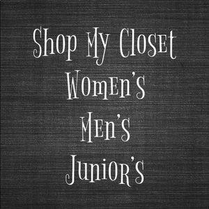 We have Women's, Men's and Junior Items!!!!